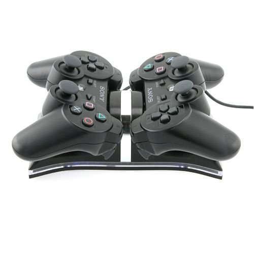 Dual Charging Station for Sony PS3 Controllers, Black