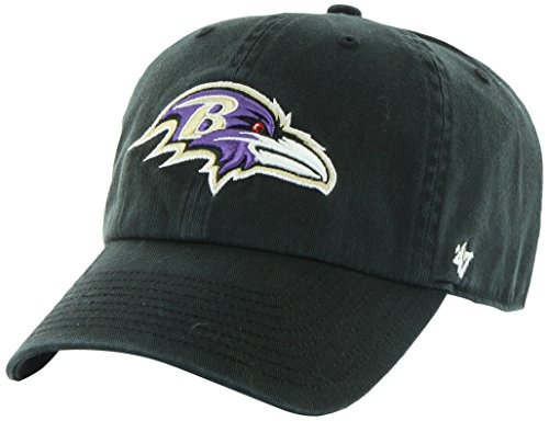 NFL Baltimore Ravens Clean Up Adjustable Hat, Black, One Size Fits All Fits All