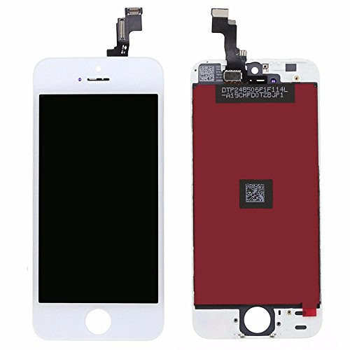 LCD Display For iPhone 5s Replacement Touch Screen Digitizer Assembly+Front Camera+Earspeaker Black White 4.0 Inch(White) (Iphone 4 Replacement Camera Front compare prices)