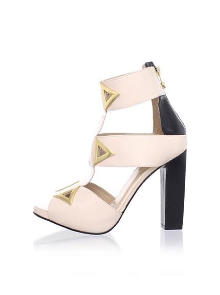 Kat Maconie Women's Sylvia Triangular Accent Peep Toe Sandal
