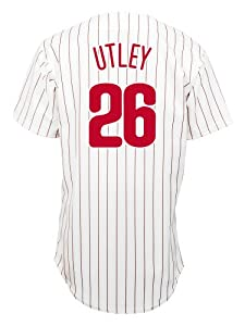 Chase Utley Philadelphia Phillies Replica Home Jersey (Large)