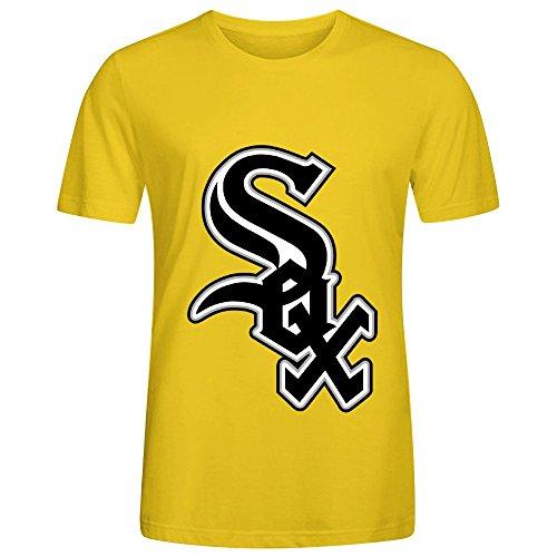MLB Chicago White Sox Team Logo Crew Neck Men Custom T Shirt Design Yellow