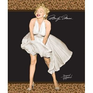 Marilyn Monroe Queen Leopard Blanket W/Beach Towel front-750732