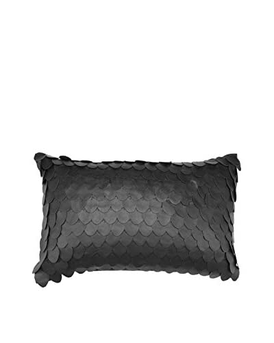 Bandhini Homewear Design Scales Lumbar Pillow, Black