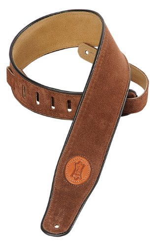 levys-suede-leather-guitar-strap-brown