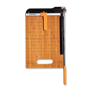 Fiskars 12 Inch Bypass Bamboo Base Titanium Carbide Blade Paper Trimmer (01-005744)