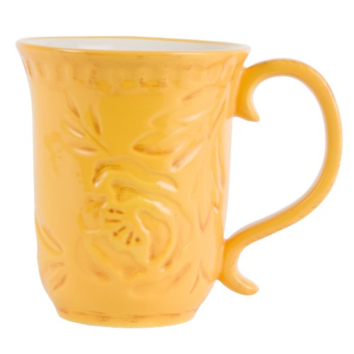 Fitz And Floyd Flower Market Mug, Naples Yellow
