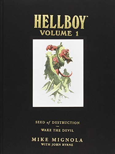Hellboy Library Edition, Volume 1: Seed of Destruction and Wake the Devil by Mignola, Mike (2008) Hardcover