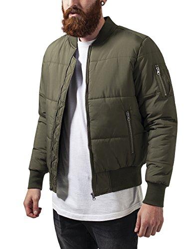 Urban Classics Basic Quilt Bomber Jacket, Giacca Uomo, Grün (Olive 176), Small