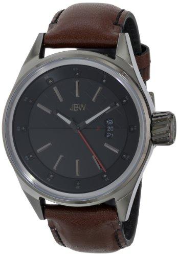 JBW  J6287C - Reloj de cuarzo para hombre, con correa de cuero, color marrón