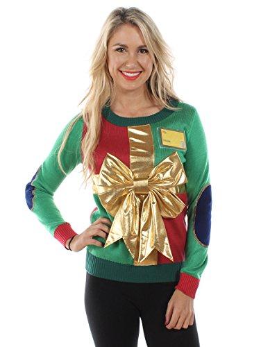 Women's Christmas Present Sweater: Large