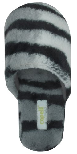 Cheap Capelli New York Zebra Faux Fur Slipper Scuff With Lining Zebra Faux Fur Sock Ladies Indoor Slipper (B005MJYXKW)
