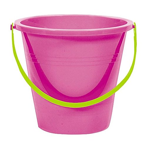 Amscan Large Round Plastic Party Favor Pail, Magenta