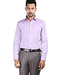 Oxemberg Men's Solid Formal 100% Cotton Heather Shirt