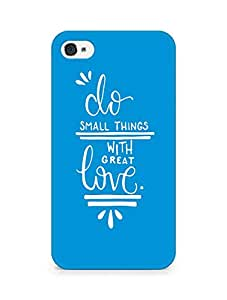 AMEZ do great things with love Back Cover For Apple iPhone 4s