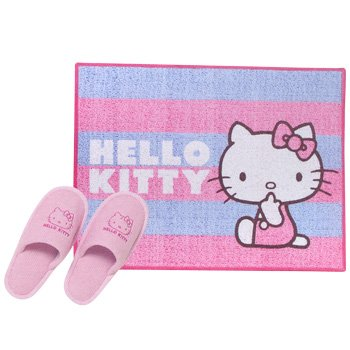 bathtub accessories hello kitty bath mat set pink. Black Bedroom Furniture Sets. Home Design Ideas