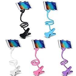 SBA Desktop Bed Clip Lay Phone Holder Flexible Long Arm Universal Cell Phone Bracket Gooseneck Holder Mount