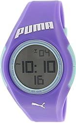 Puma Women's Tonic PU911191002 Purple Plastic Quartz Watch with Digital Dial