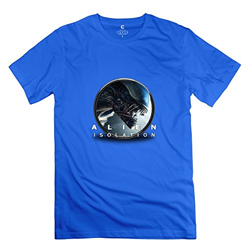 alien-isolation-hot-topic-short-sleeve-royalblue-t-shirts-for-guys-size-s