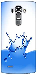 Snoogg Clear Water Splash Vector Designer Protective Back Case Cover For LG G4