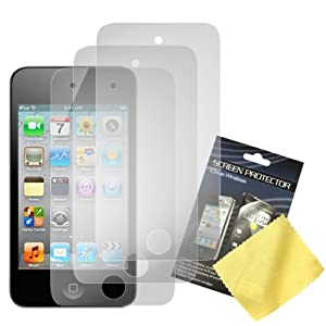 Cbus Wireless 3x Set LCD Screen Guards / Protectors for Apple iPod Touch 4 / 4G / 4th Gen