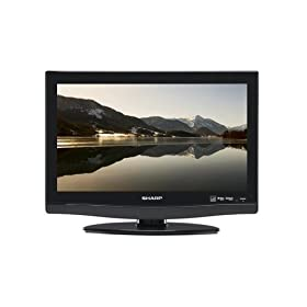 Sharp AQUOS LC19DV28UT 19-Inch LCD TV/ DVD Combo Unit, Black