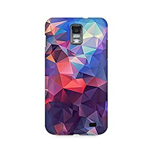 Motivatebox- Abstract Fusion Triangle Premium Printed Case For Samsung S2 I9100/9108 -Matte Polycarbonate 3D Hard case Mobile Cell Phone Protective BACK CASE COVER. Hard Shockproof Scratch-