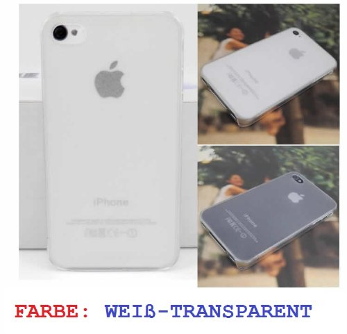 iPhone 4 4s Schutzhülle tranparent Hardcase,Super Dünn, Transparent-Weiß,Super Design, 100% Zufriedenheit
