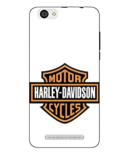 Case Cover Harley Davidson Printed White Soft Back Cover For LYF WIND 6