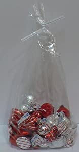 """Candy Treat Bags 4""""x10"""" with Twist Ties, Bag of 100"""