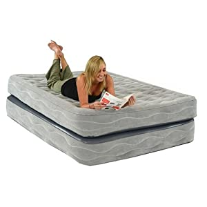 Smart Air Beds Champion Raised Air Bed with Built-In Pump, Gray, Queen by Smart Air Beds