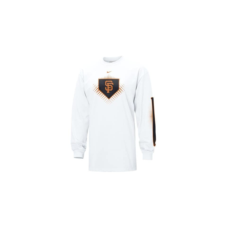 Nike San Francisco Giants White MLB Overthrow Long Sleeve T shirt
