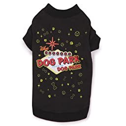 Casual Canine Cotton/Polyester Dog Park Tee, Small/Medium, 14-Inch, Black