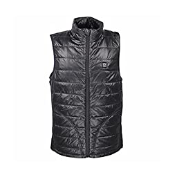 OUBOHK Clothing Men\'s Thick Winter Vest Electric Heating Waistcoat Medium Black