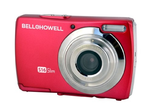 Bell+Howell Slim S16-R 16Digital Camera with 2.7-Inch LCD (Red)