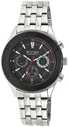 Titan Octane Chronograph Black Dial Mens Watch - NE9324KM01J