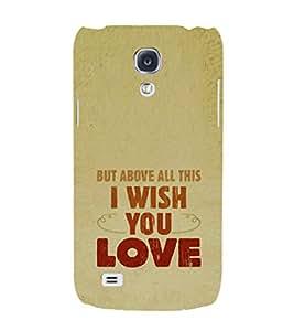 EPICCASE Love Hope Mobile Back Case Cover For Samsung Galaxy S4 Mini (Designer Case)