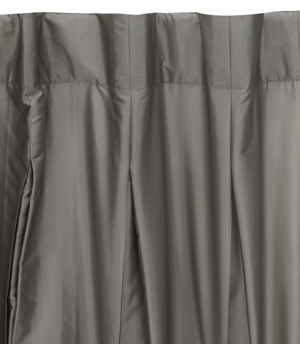 Umbra Pleatta 50-Inch-by-84-Inch Pleated Taffeta Drapery Panel, Pewter
