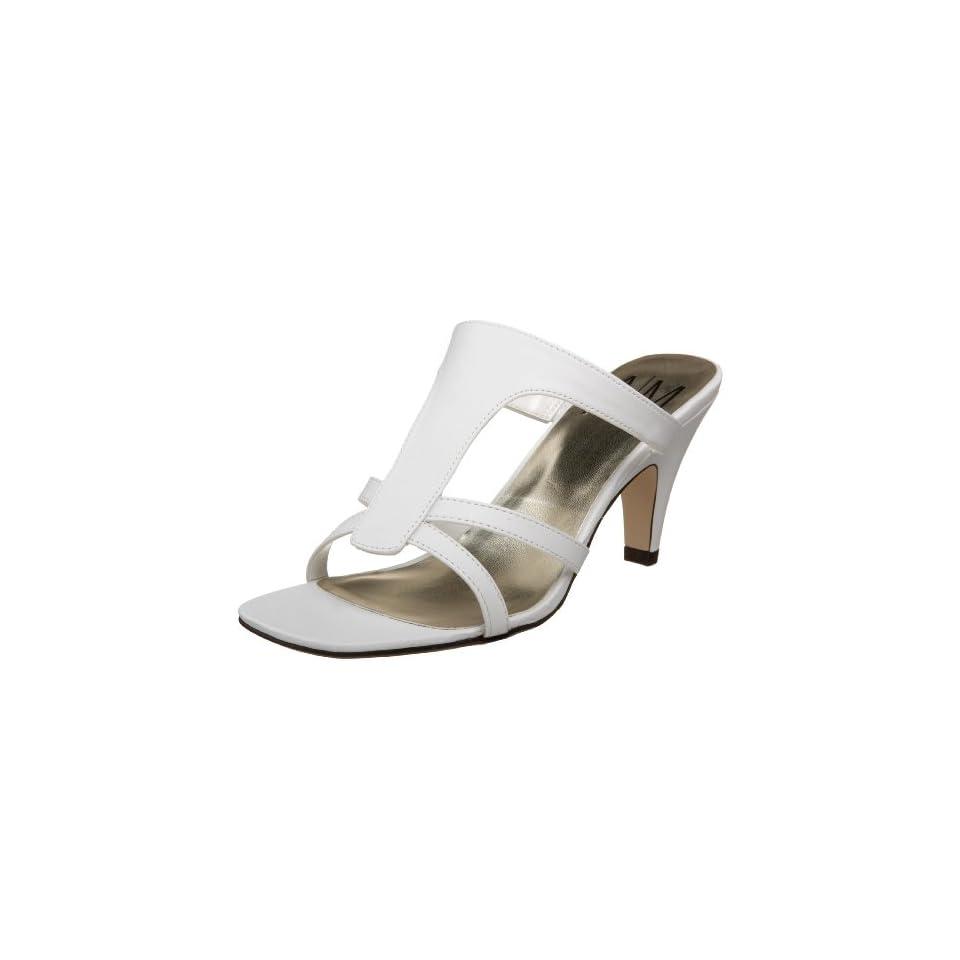Ann Marino Womens Sareene Sandal White 10 M Us On Popscreen Ann Marino Shoes Dsw