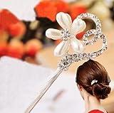 2Pieces High Quality, Silver Crystal Beautiful Sunflower Hair Sticks, Hair pin,Chopsticks,Hair accessory ,Wedding Hair Jewelry