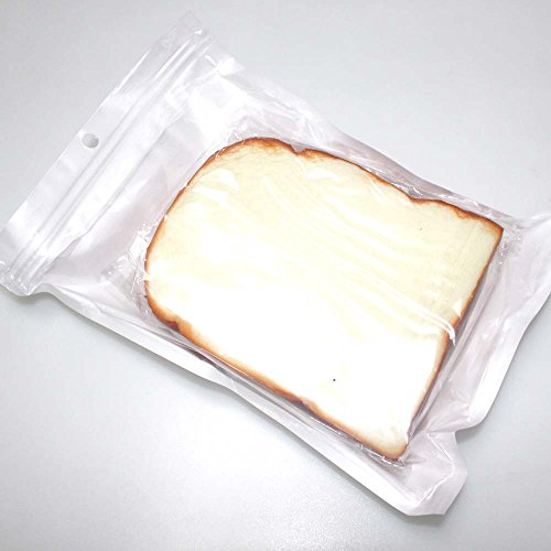 Goodlucky365 fake play food toy 3pcs fake bread slice for Artificial bread decoration