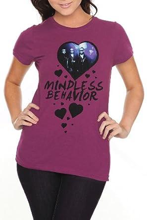 Amazon.com: Mindless Behavior Hearts Girls T-Shirt Size : Small: Music