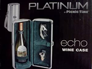 Platinum Wine Case by Picnic Time - Echo (Black Lining)