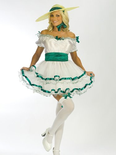 Sexy Southern Belle Costume theater Theatre Costumes White Dress Lace Gloves