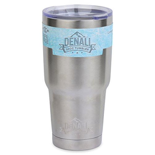 30oz Tumbler - Denali Drinkware Double-wall Insulated Stainless Steel Drinking Vacuum Mug with Lid fits in Cup Holders - Keeps Coffee Hot and Drinks Ice Cold - For College, Wedding Gifts, and Travel (Libation Cup compare prices)