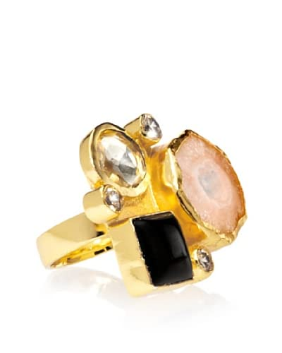 Saachi Triple Stone and Cubic Zirconia Ring