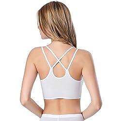 Girls / Womens Fashion Sexy Slim 6pcs Modal America back Bottoming vest White