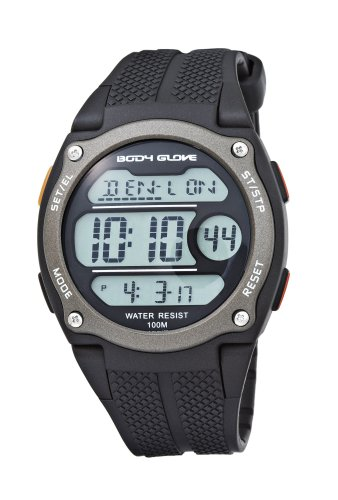 Body Glove Men's 70323 Hinj Digital Blackand Gun Grey Watch