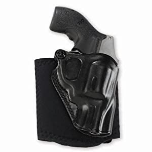 Galco Ankle Glove / Ankle Holster for Ruger SP101 2 1/4-Inch (Black, Left-hand)