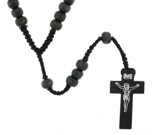 Wood Black Rosary and Two Adjustable Bracelets with Photographs